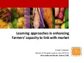 Learning approaches in enhancing farmers' capacity to link with market