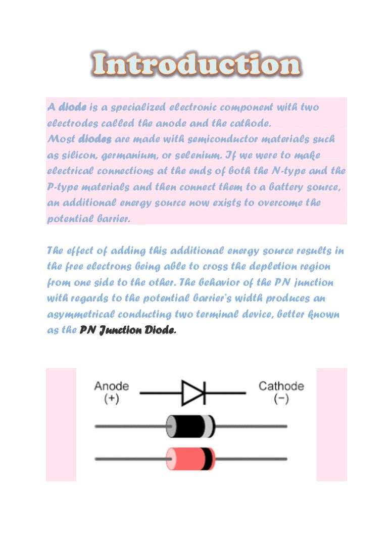 Diode Understanding The Pn Junction