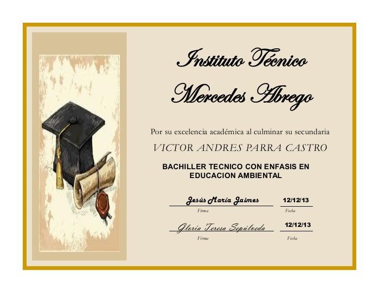Diploma De Grado