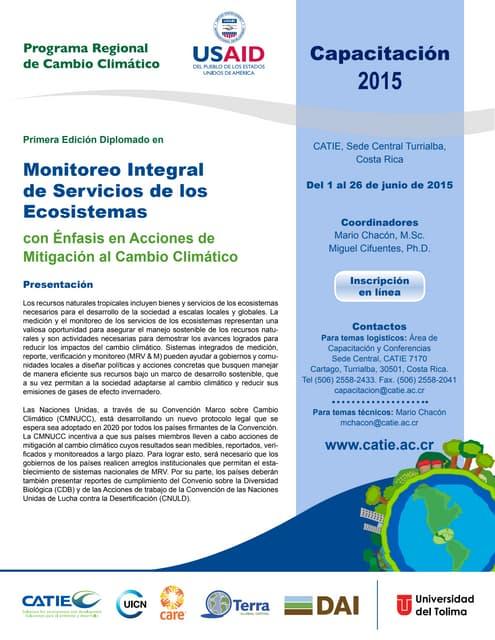 Diplomado en Monitoreo integral de servicios ecosistémicos