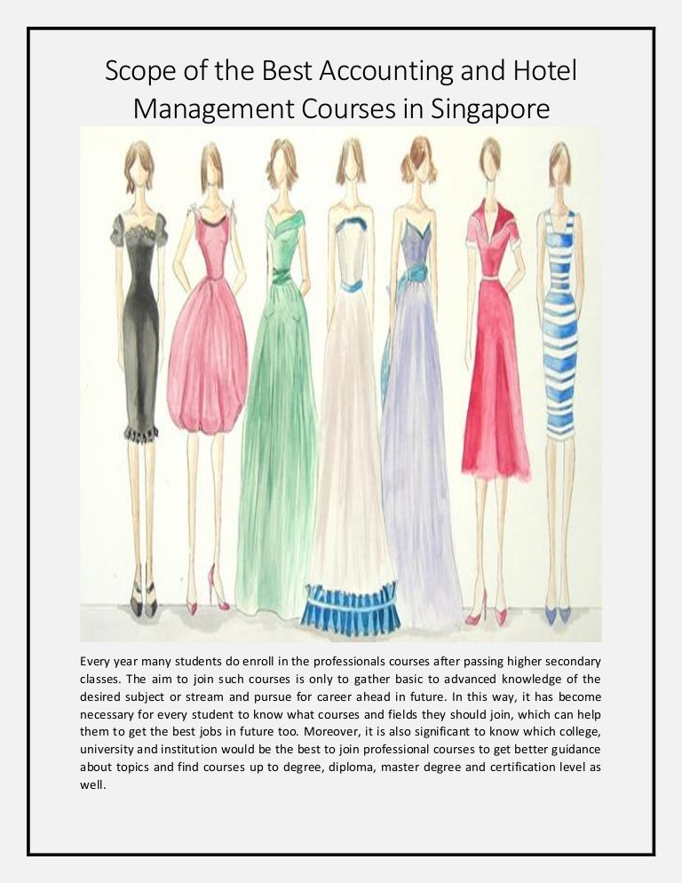 Diploma In Hotel Management Course In Singapore