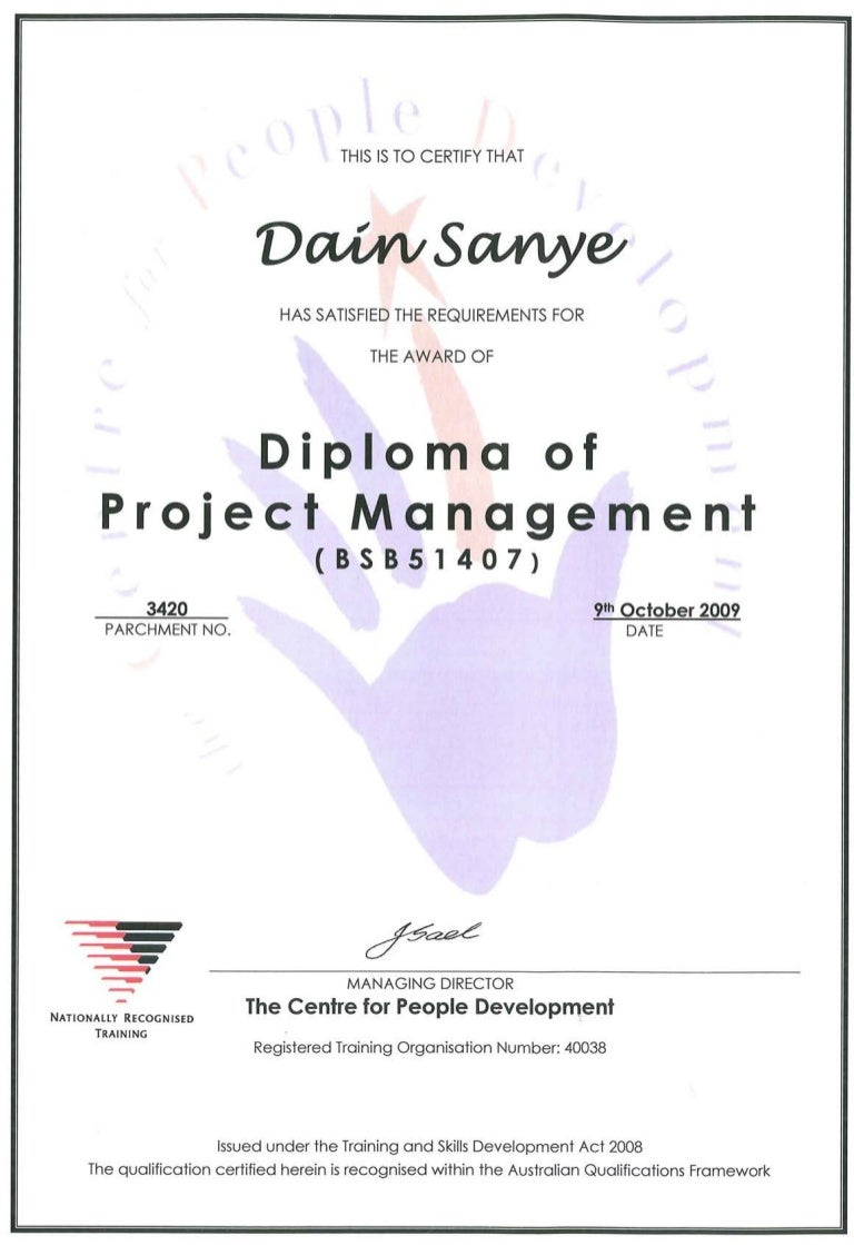 Diploma of project management xflitez Image collections