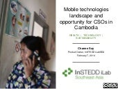 Mobile technologies landscape and opportunity for civil society organizations in Cambodia