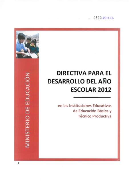 Directiva para año9 escolar 2012 0622 2011-ed-directiva