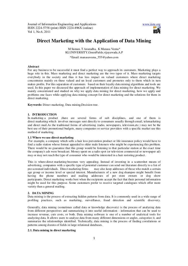 Dissertation direct marketing