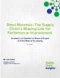 Direct Materials: The Supply Chain's Missing Link for Performance Improvement - 11 JAN 2017