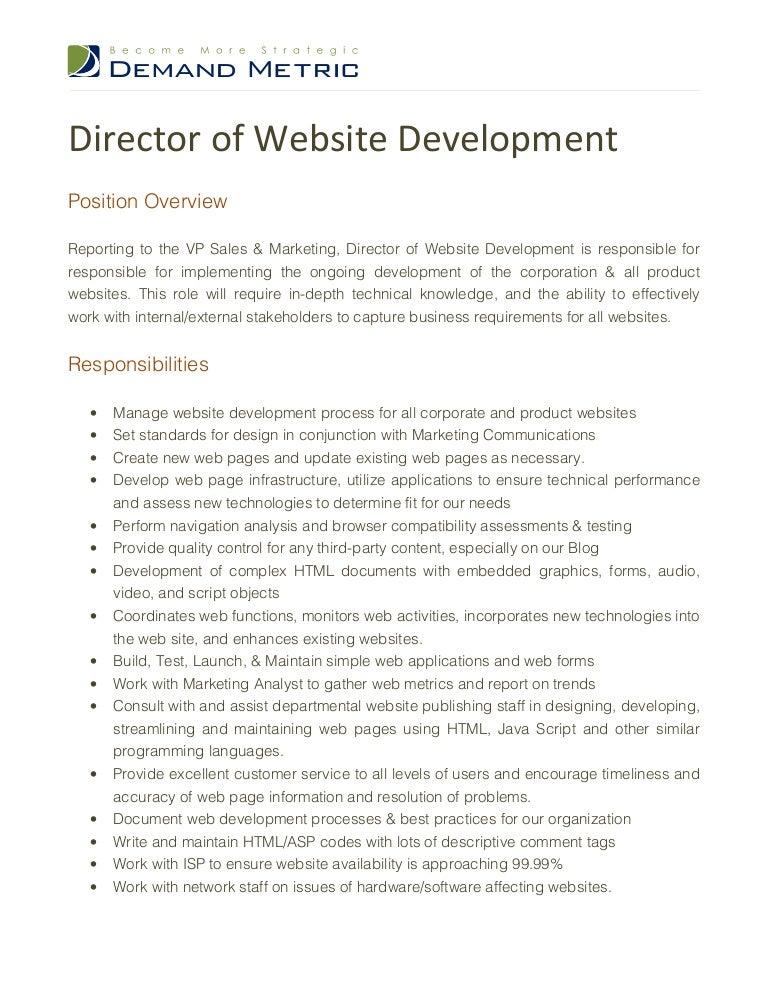Template Template Proffesional Vp Technology Job Description – Technical Director Job Description