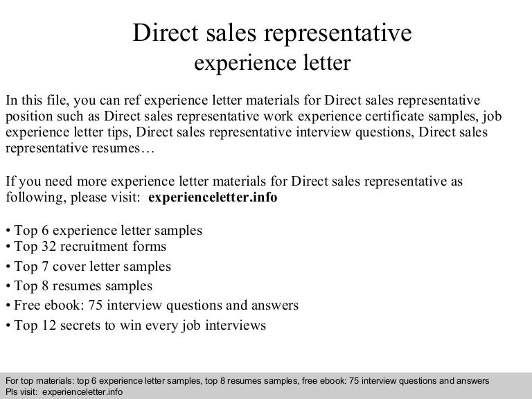direct sales resumes