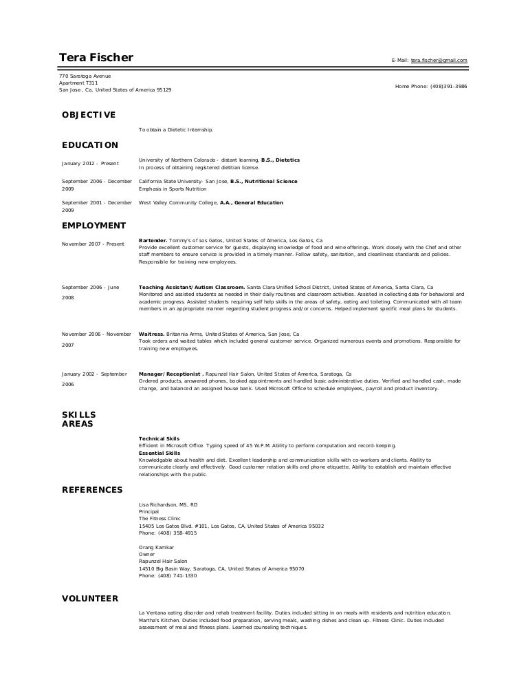 Unforgettable Nutritionist Resume Examples To Stand Out