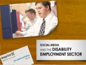 Disability employment & social media