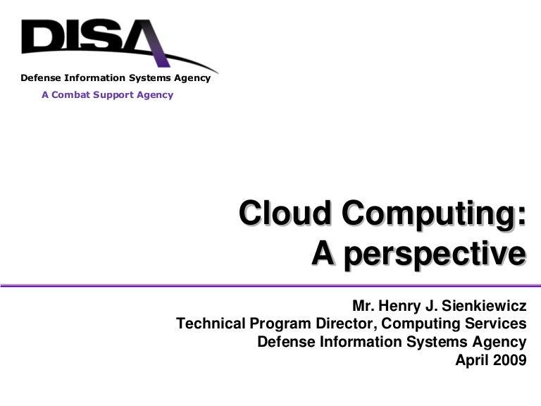 DISA: Cloud Computing And SaaS