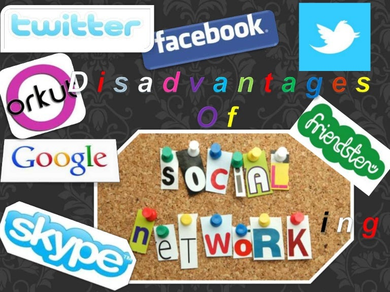 disadvantages of social networking sites to Disadvantages from social networking on students: 1 encourages exploitation and abuse: we all know that social networking is a product of technology and technology brings new kinds of crime.