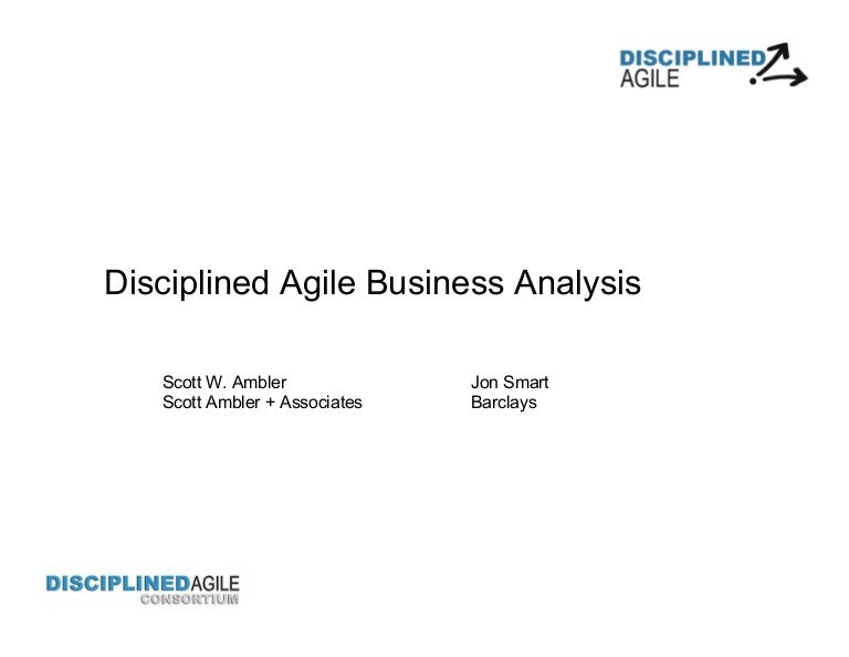 Disciplined Agile Business Analysis