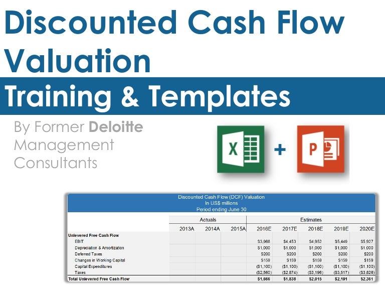 Discounted cash flow valuation template pronofoot35fo Images