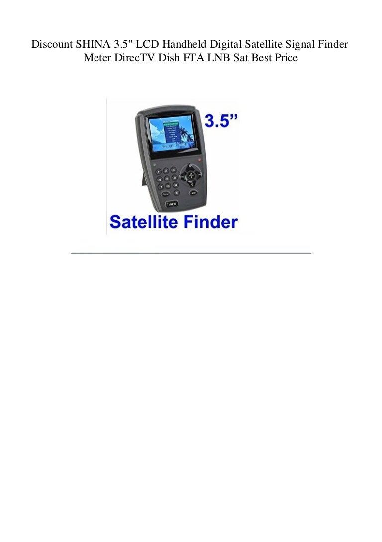 Discount SHINA 3 5 LCD Handheld Digital Satellite Signal
