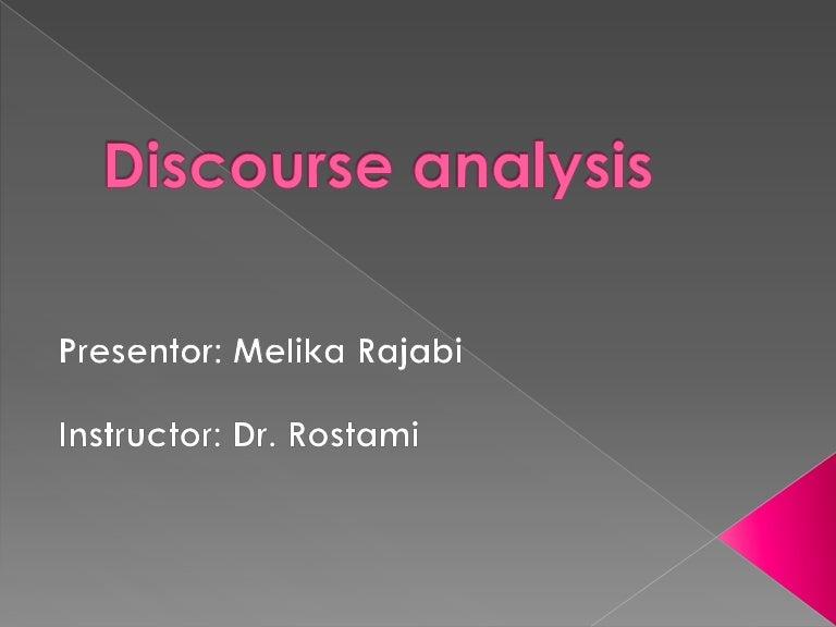 discourse analysis book free