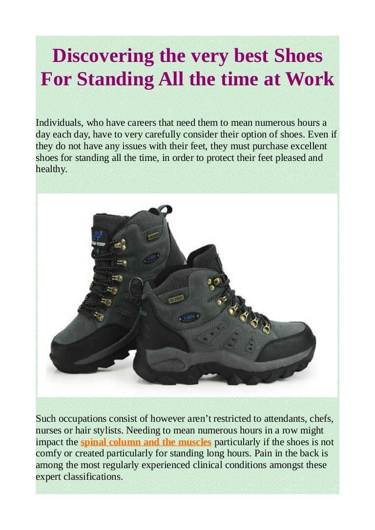 shoes for standing all the time at work