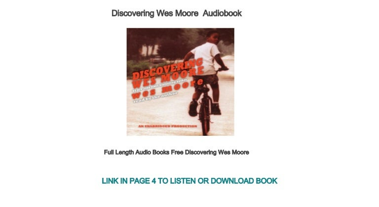 Discovering Wes Moore PDF Free Download