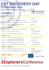Discovery Day - Centre for Exploration Targeting - February 2014 - Allan Trench et al.