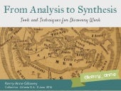 Collective 2016 – From Analysis to Synthesis: Tools and Techniques for Discovery Work