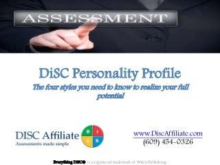 MGT     DISC Platinum Rule Assessment Paper pdf StudyBlue