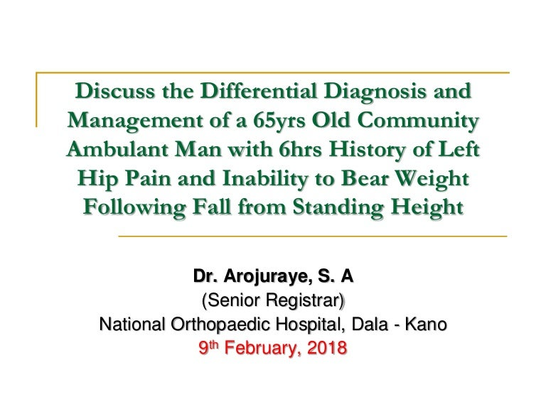 Discuss the differential diagnosis and management of a