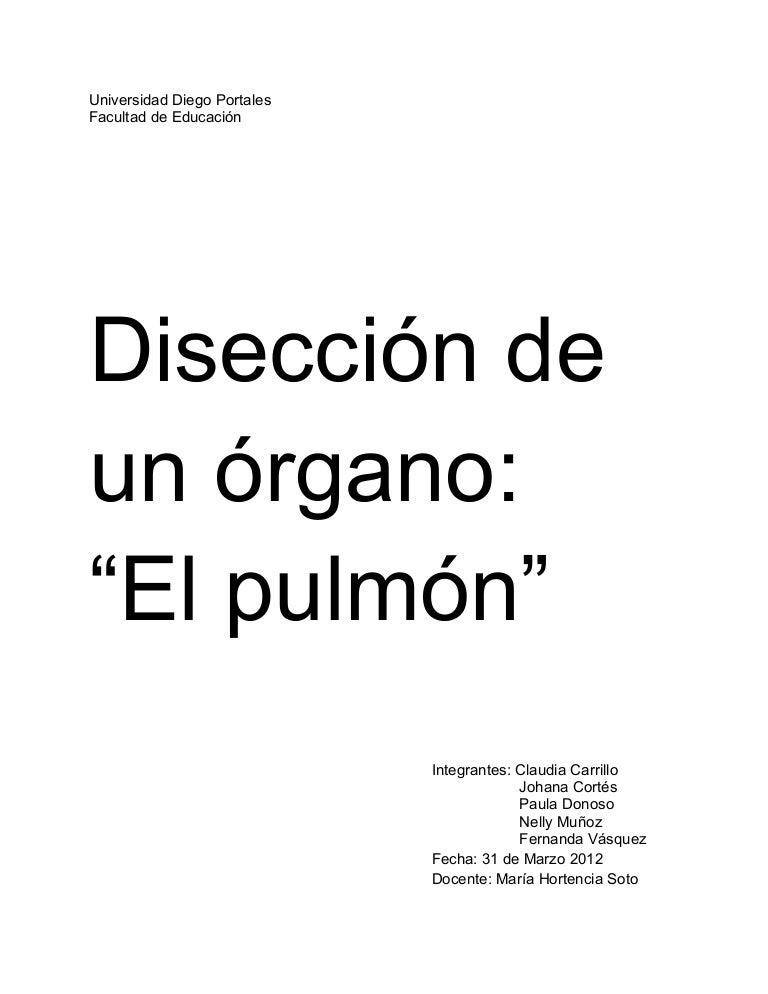 Disección del pulmón