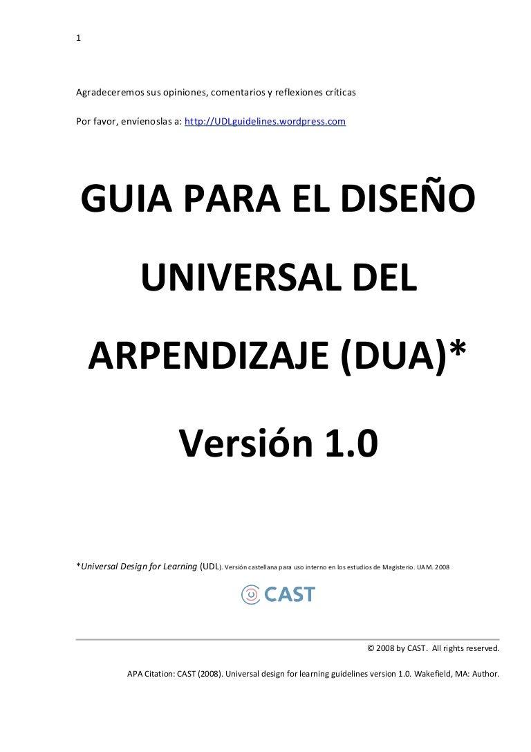 Diseno Universal del Aprendizaje (DUA)