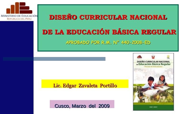 Dise o curricular nacional 2009 ed for Diseno curricular nacional 2016 pdf