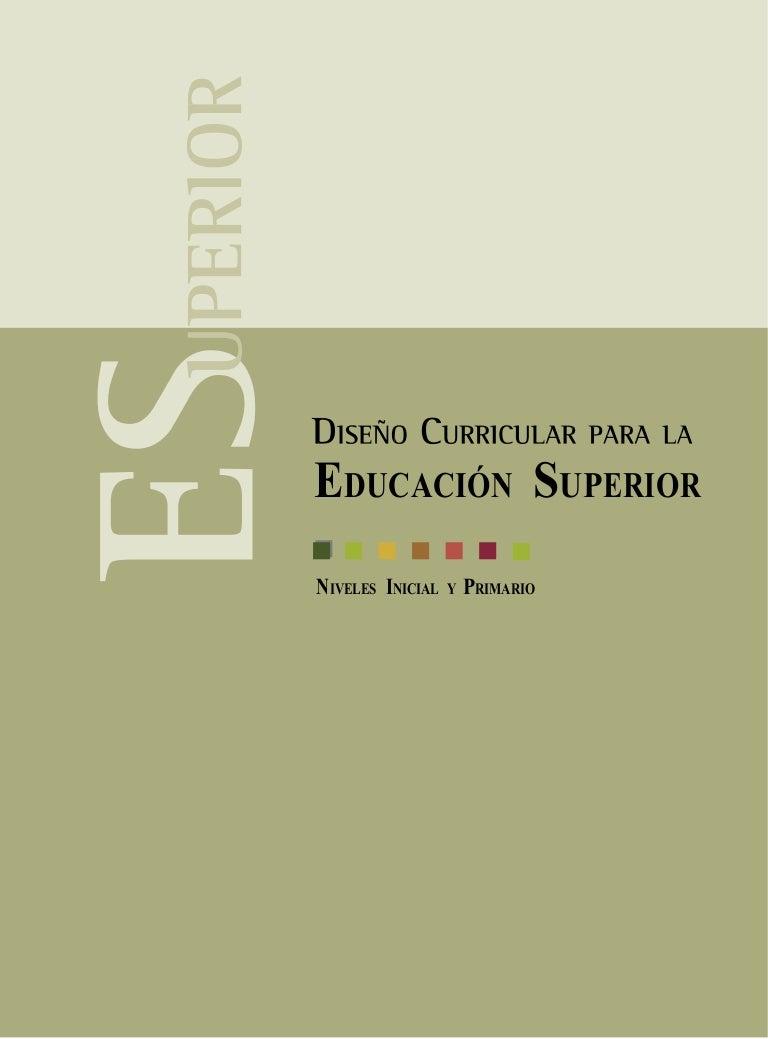 Diseño curricular para la educación superior
