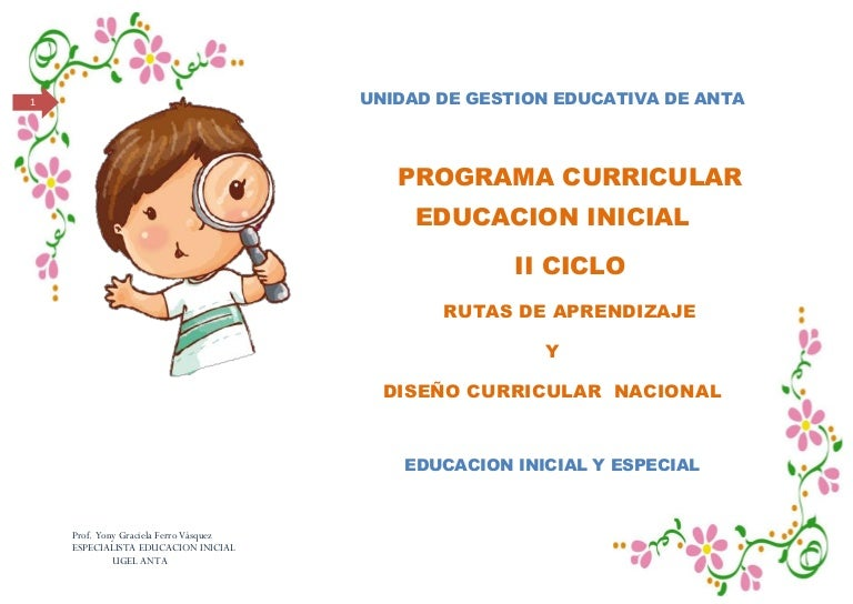 Dise o curricular y rutas de aprendizaje en el nivel inicial for Curriculum de nivel inicial