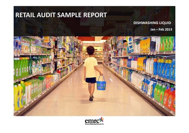 Emrooz Marketing Research Marketing (EMRC) - Retail Audit - Dishwashing liquid Sample Report