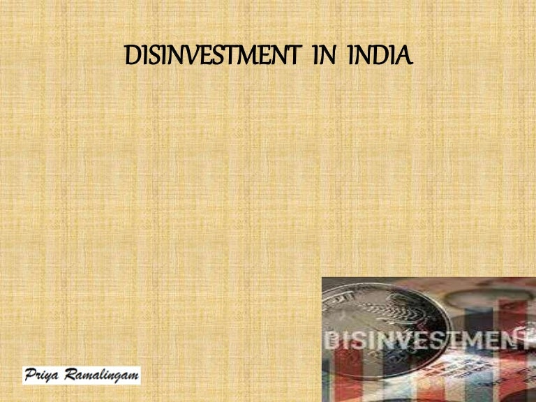 Disinvestment in india pdf converter trading investment accounting methods