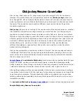 Disk Jockey Resume Cover Letter