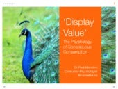 Display Value - The Psychology of Conspicuous Consumption
