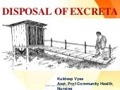 Disposal of excreta