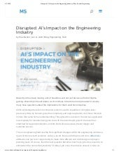 Disrupted: AI's Impact on the Engineering Industry | Max Swahn