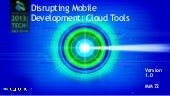 Wolters Kluwer Tech. Conference: Disrupting Mobile Development