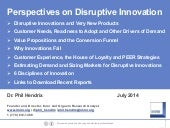 Perspectives on Disruptive Innovation