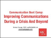 Improving Communications During a Crisis - and beyond