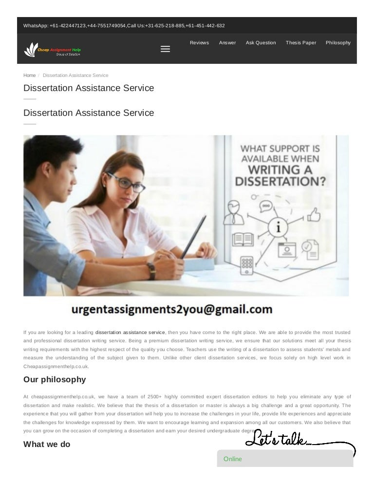 Dissertation assistance service apa research paper title page