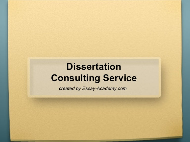 Dissertation consultation services illegal
