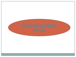 Editing service for dissertation
