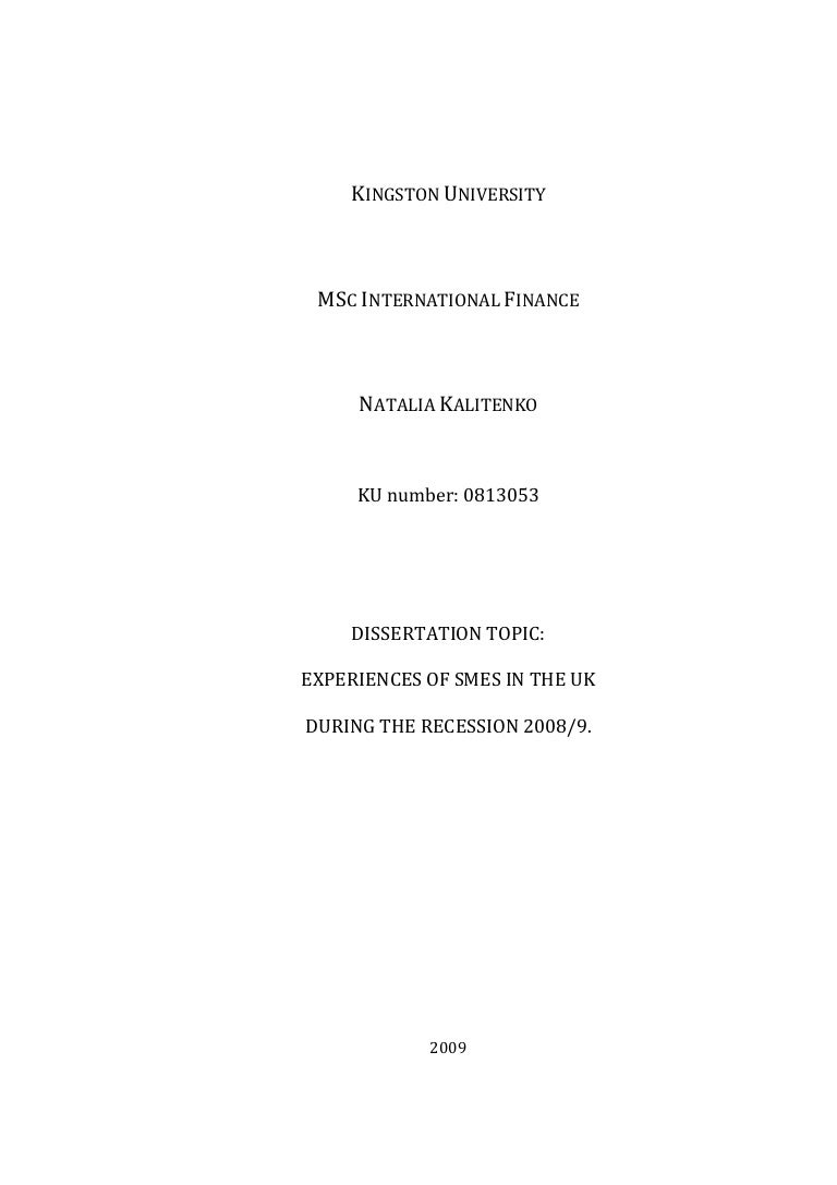 Writing a dissertation kingston university