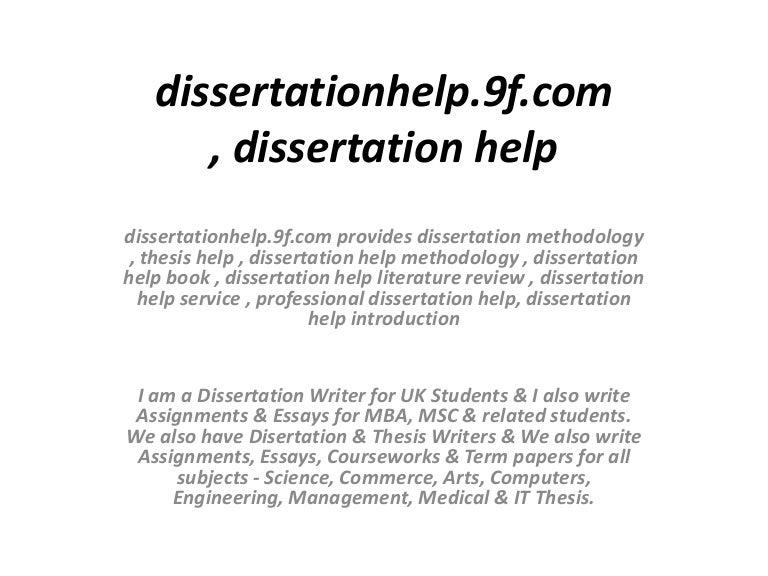 Writing a dissertation methodology