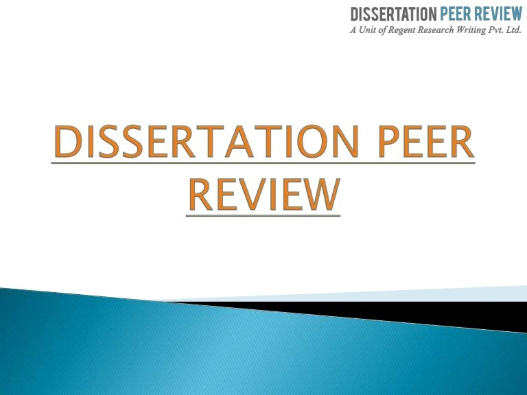 are dissertations peer reviewed