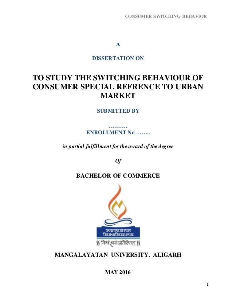 purchase a dissertation behaviour
