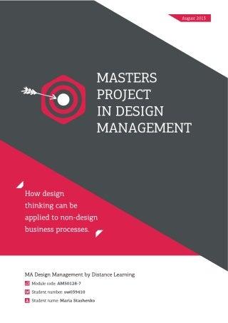 Dissertation design management