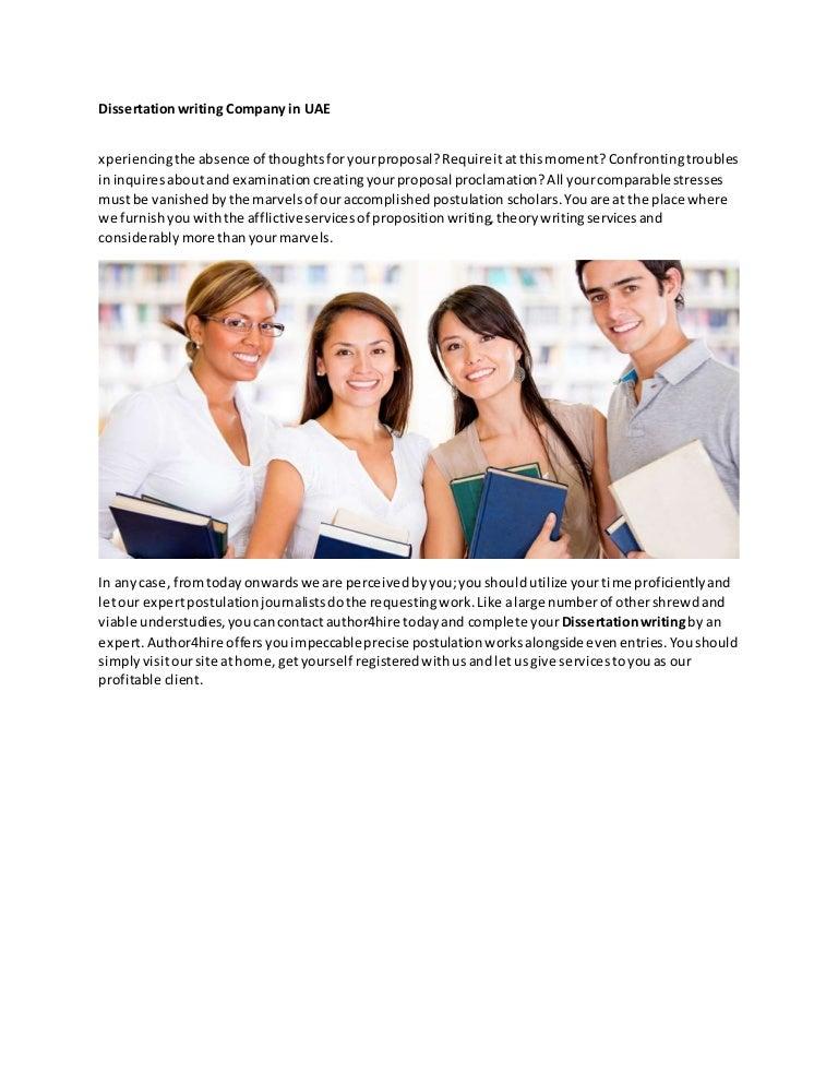 Dissertation writing companies
