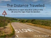 The Distance Travelled:  Reflections on open education policy in the UK since the Cape Town Declaration